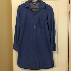 OLD NAVY BLUE JEAN LONG SLEEVED DRESS